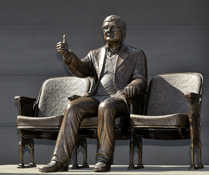 """C-U at the Movies,"" Roger Ebert Sculpture (Champaign, IL)"